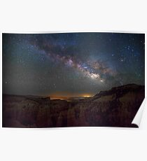 Milky Way Over Grand Canyon Poster
