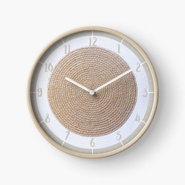 Jute round Clock