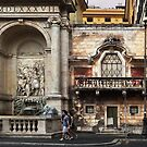 Building Facades, Rome by Roz McQuillan