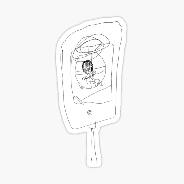 Grandma Irene in Helicopter on iPad Sticker