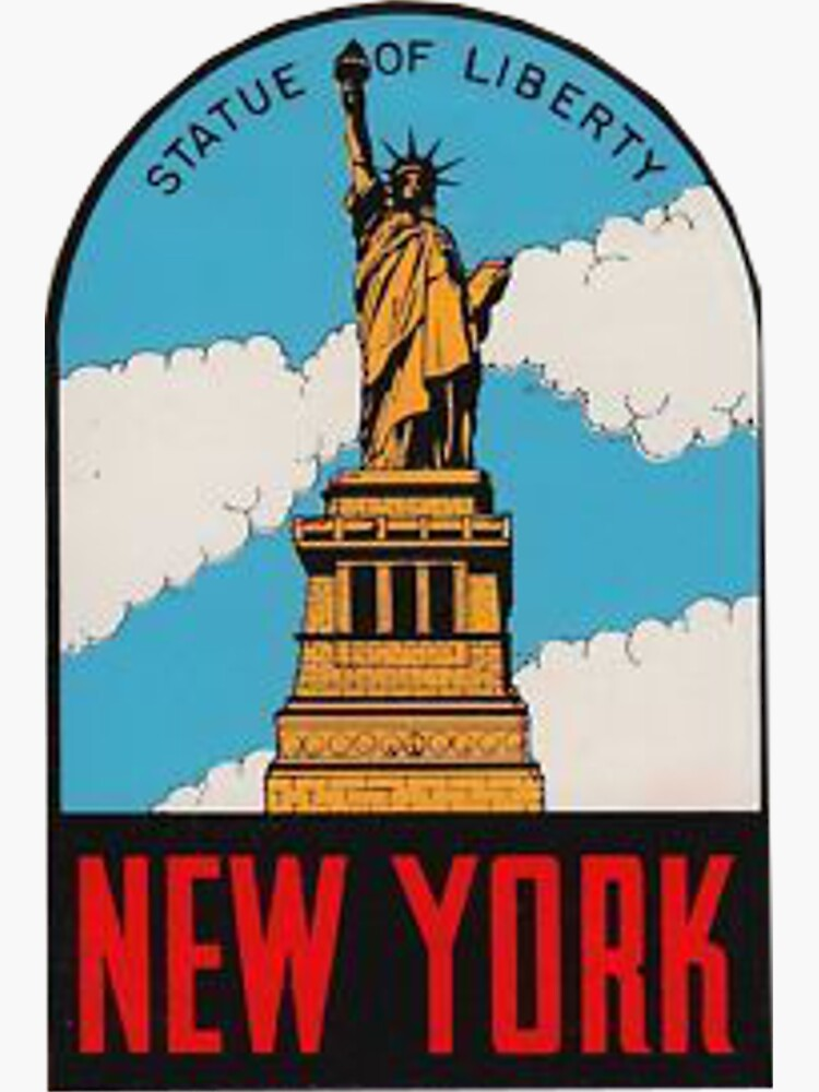 Vintage New York Statue of Liberty Travel Decal by MeLikeyTees