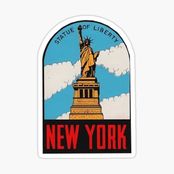 NY    Vintage Looking  Travel Decal Sticker New York The Wonder City
