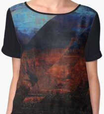 Deconstructing Time Altered Landscapes Grand Canyon Women's Chiffon Top