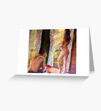 What Happens in the Bedroom Greeting Card
