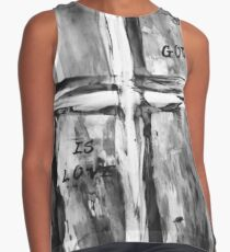 black and white - cross 2 Contrast Tank