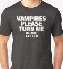 Vampires Please Turn Me T-Shirt