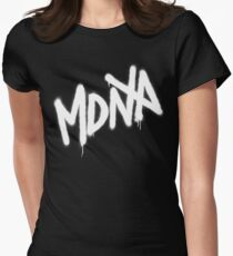 MDNA Tag (White) Womens Fitted T-Shirt
