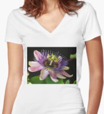 Passiflora Women's Fitted V-Neck T-Shirt