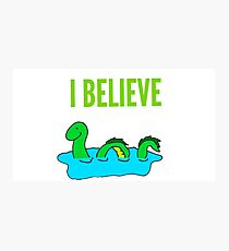 I believe, Lochness Monster Photographic Print