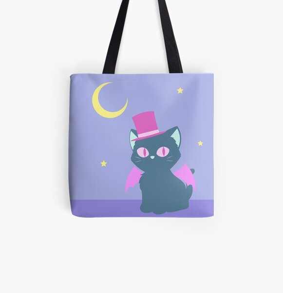 Kitty Cat Bat All Over Print Tote Bag