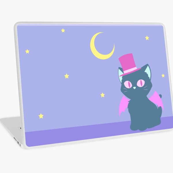 Kitty Cat Bat Laptop Skin