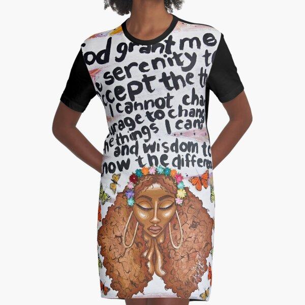 SERENITY PRAYER Graphic T-Shirt Dress