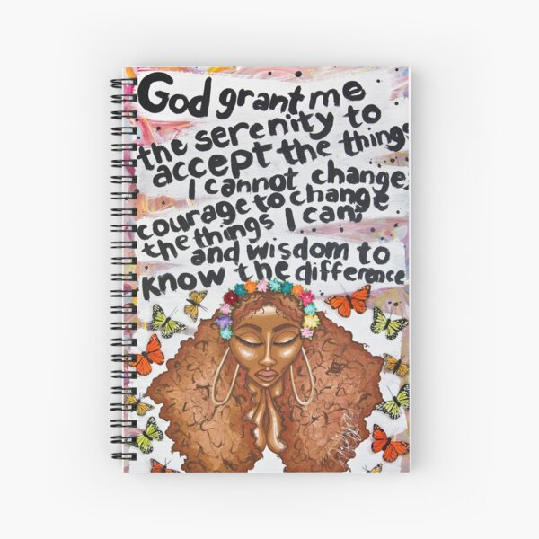 SERENITY PRAYER Spiral Notebook