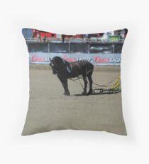 Horse Power II Throw Pillow
