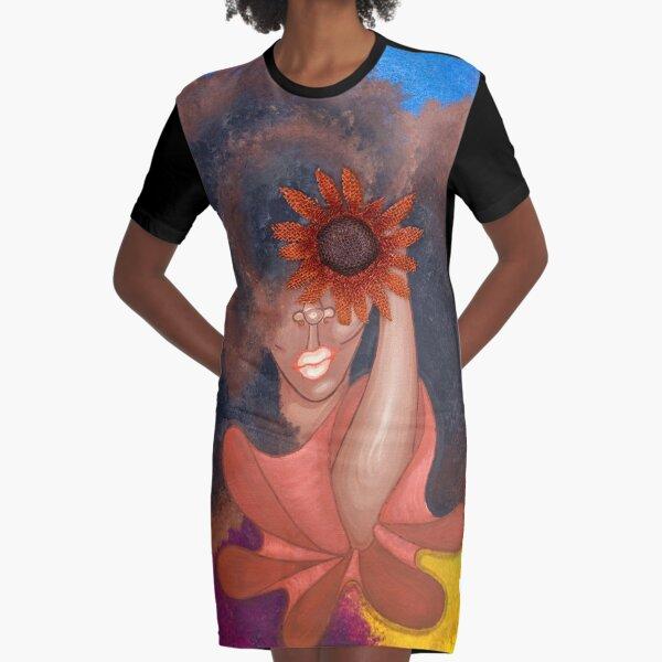 SEE NO EVIL Graphic T-Shirt Dress