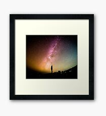 Me against the universe Framed Print