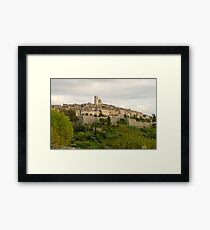 France. Saint Paul de Vence Framed Print