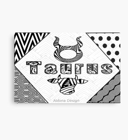 Taurus Doodle Art  (1516 Views) Metal Print