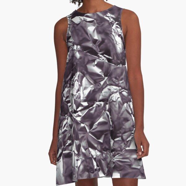 Foiled - Aluminum foil actually A-Line Dress