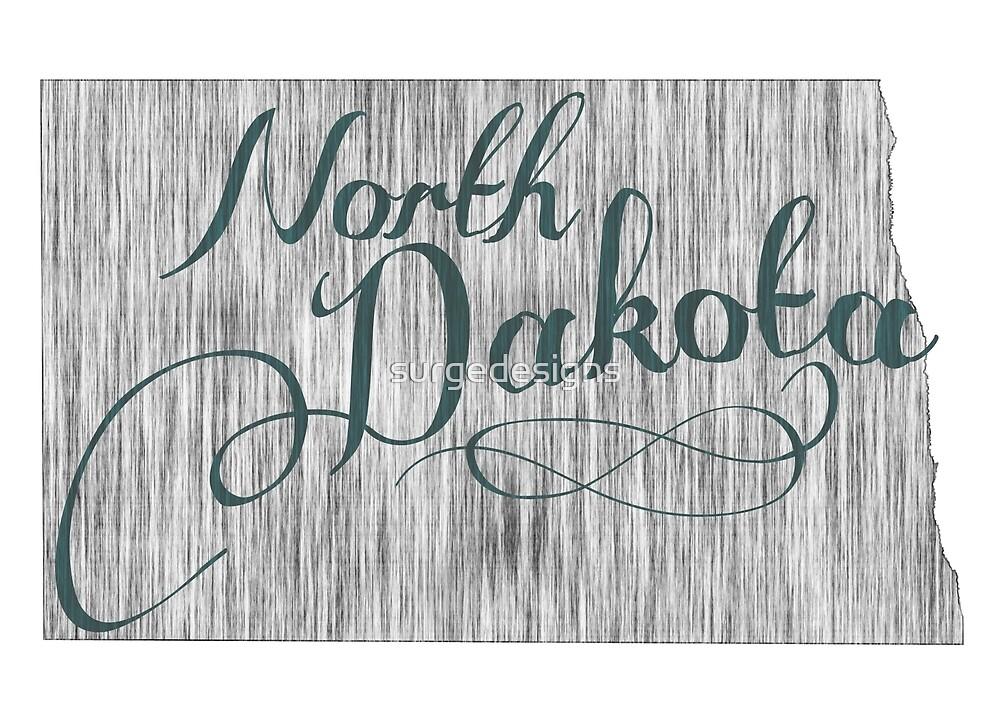 North Dakota State Typography by surgedesigns