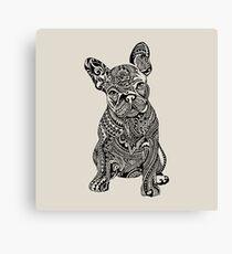Polynesian French Bulldog Canvas Print