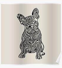 Polynesian French Bulldog Poster