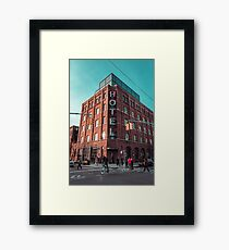 Welcome. Framed Print