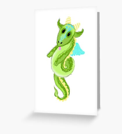 Cutie Hairy Dragon Greeting Card