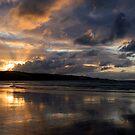 Ahipara at Sunset, Ninety Mile beach, New Zealand by Victoria Ashman