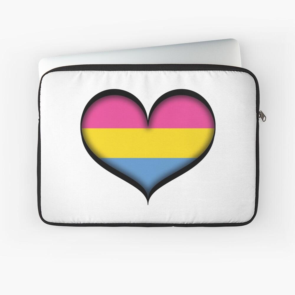 Pansexual Heart Laptop Sleeve