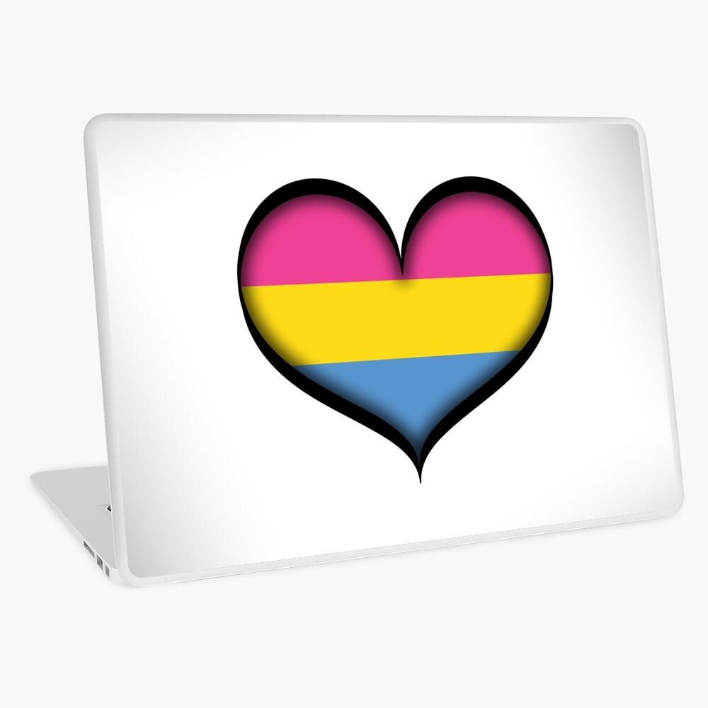 Pansexual Heart Laptop Skin