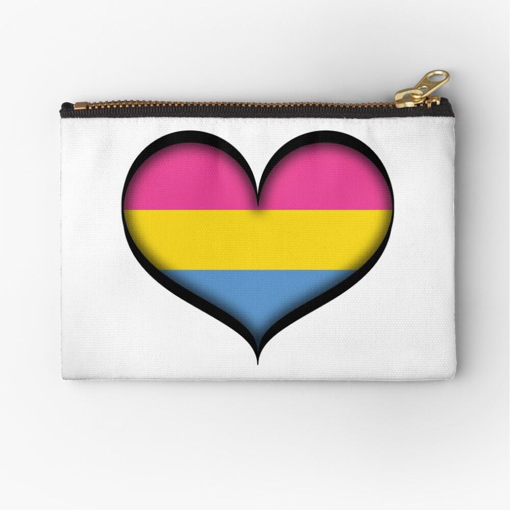 Pansexual Heart Zipper Pouch