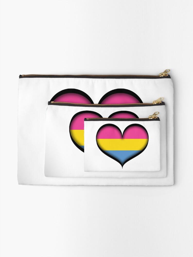 Alternate view of Pansexual Heart Zipper Pouch