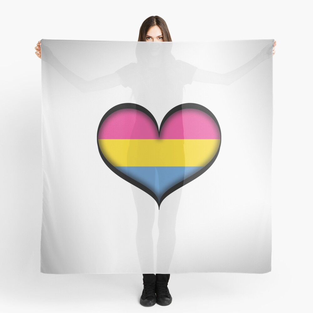 Pansexual Heart Scarf