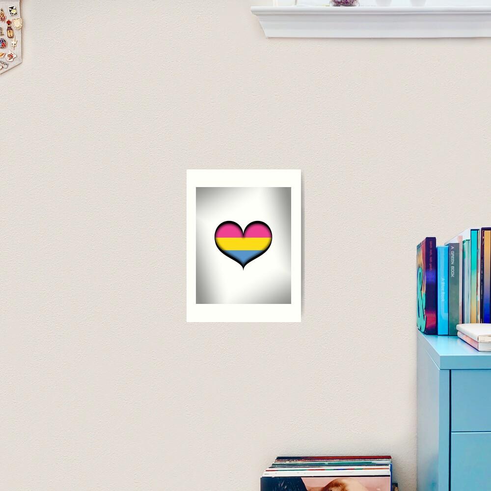 Pansexual Heart Art Print