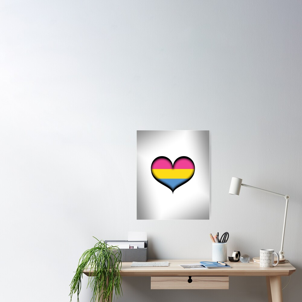 Pansexual Heart Poster