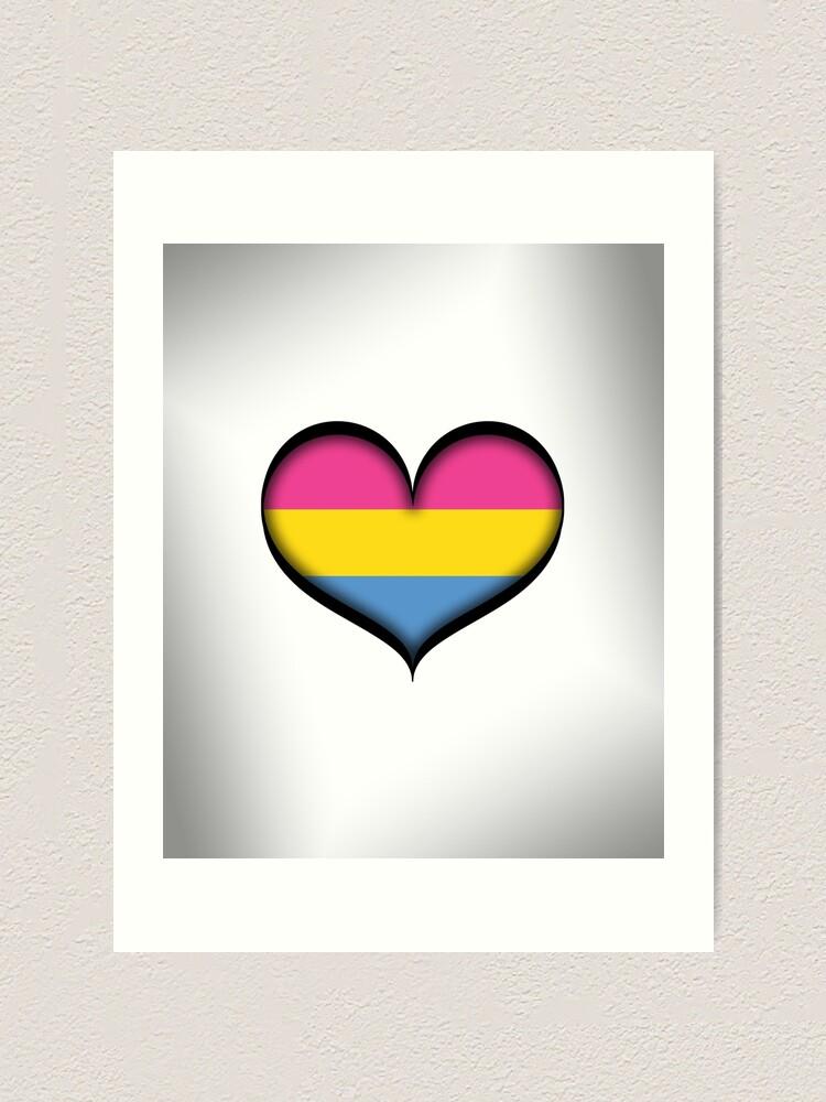 Alternate view of Pansexual Heart Art Print
