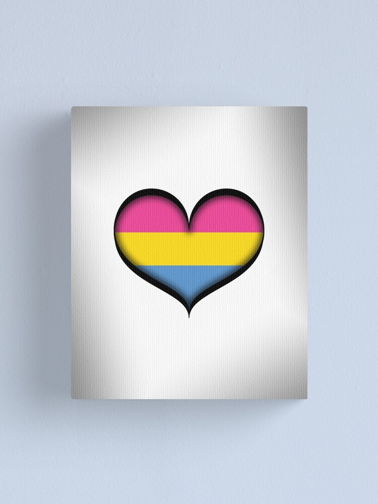 Alternate view of Pansexual Heart Canvas Print