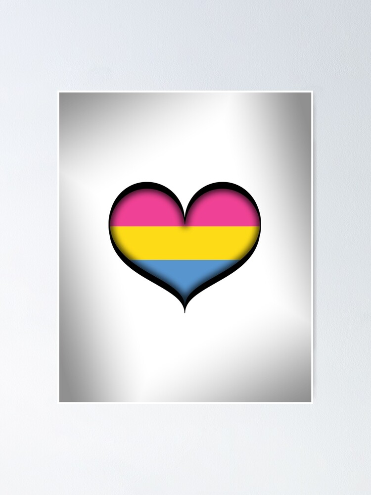 Alternate view of Pansexual Heart Poster