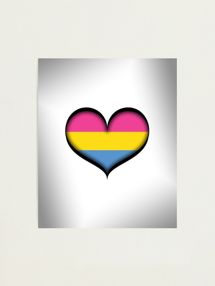 Alternate view of Pansexual Heart Photographic Print