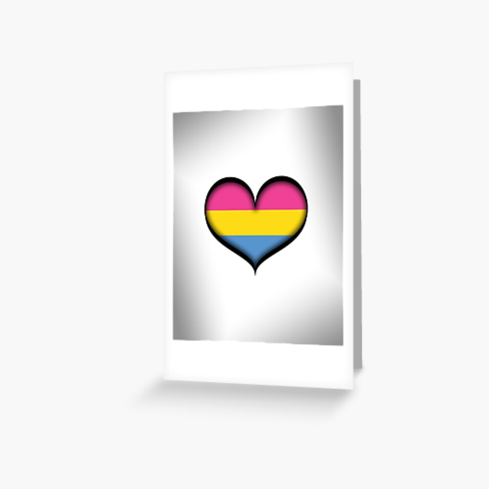 Pansexual Heart Greeting Card