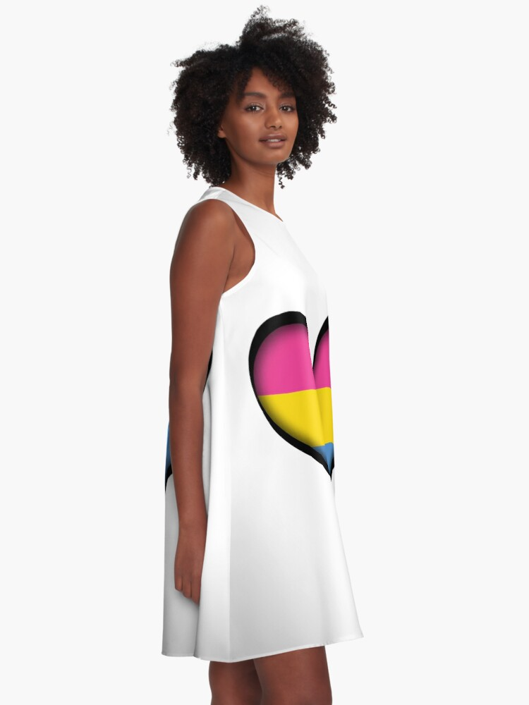 Alternate view of Pansexual Heart A-Line Dress