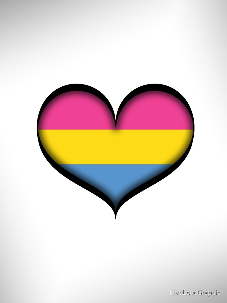 Pansexual Heart by LiveLoudGraphic