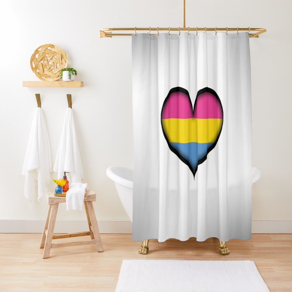 Pansexual Heart Shower Curtain
