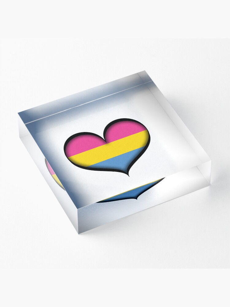 Alternate view of Pansexual Heart Acrylic Block