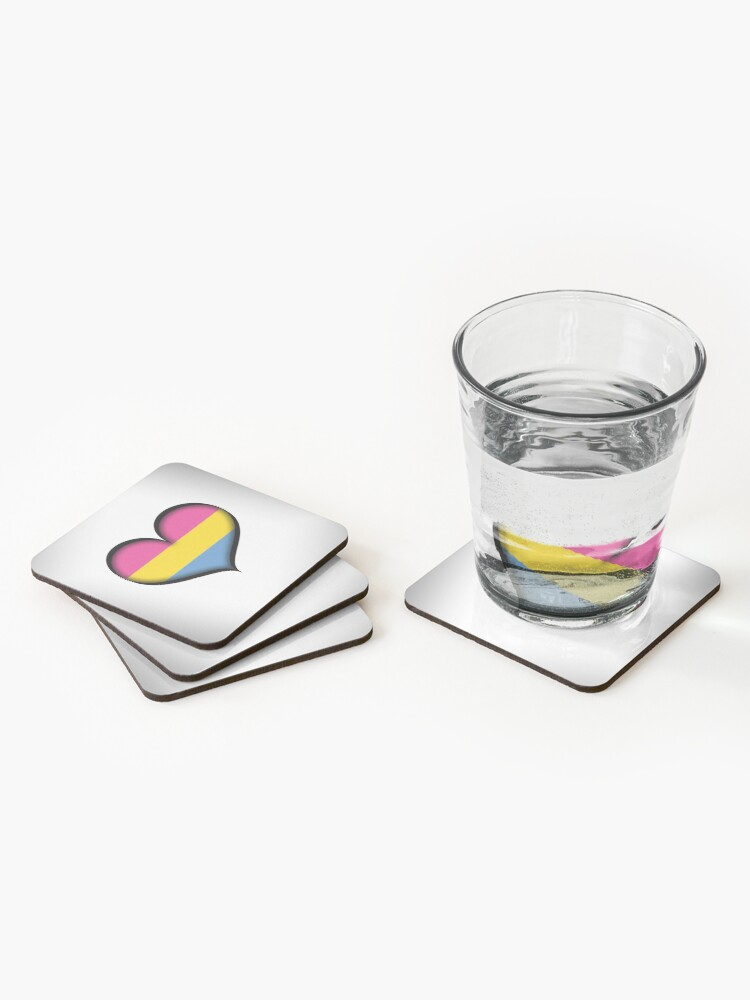 Alternate view of Pansexual Heart Coasters (Set of 4)