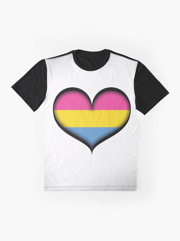 Alternate view of Pansexual Heart Graphic T-Shirt