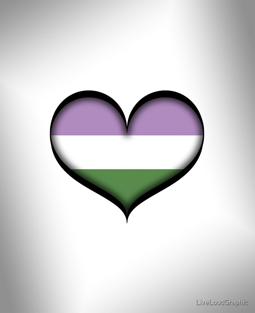 Genderqueer Heart by LiveLoudGraphic