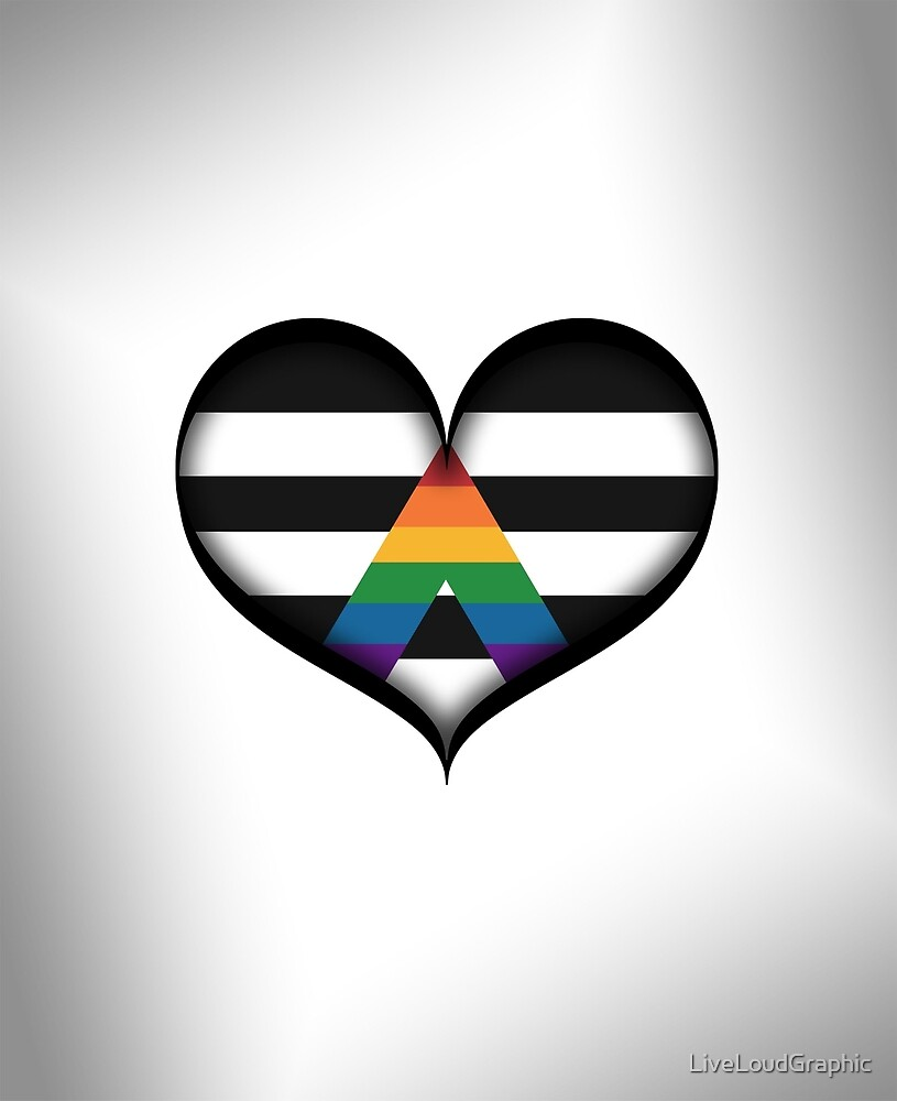 LGBT Ally Heart by LiveLoudGraphic