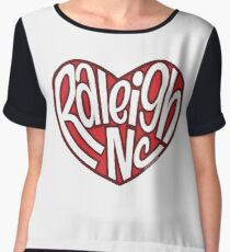 Raleigh North Carolina Heart Chiffon Top